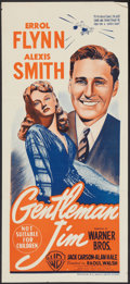"Movie Posters:Sports, Gentleman Jim (Warner Brothers, 1942). Australian Daybill (13.5"" X 30""). Sports.. ..."