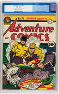 Adventure Comics #74 (DC, 1942) CGC NM 9.4 Off-white to white pages
