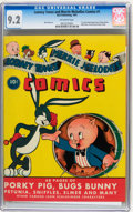 Golden Age (1938-1955):Cartoon Character, Looney Tunes and Merrie Melodies Comics #1 (Dell, 1941) CGC NM- 9.2 Off-white pages....