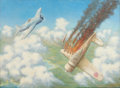 Mainstream Illustration, R. PRICE (American, 20th Century). Air superiority. Oil oncanvas. 22 x 30 in.. Signed lower right. ...