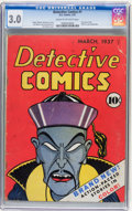 Golden Age (1938-1955):Adventure, Detective Comics #1 (DC, 1937) CGC GD/VG 3.0 Cream to off-white pages....