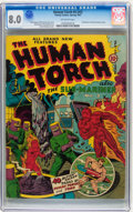 Golden Age (1938-1955):Superhero, The Human Torch #4 (#3) (Timely, 1941) CGC VF 8.0 Off-white pages....