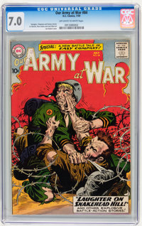 Our Army at War #84 (DC, 1959) CGC FN/VF 7.0 Off-white to white pages
