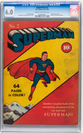 Golden Age (1938-1955):Superhero, Superman #2 (DC, 1939) CGC FN 6.0 Cream to Off-white pages....