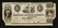 Obsoletes By State:Ohio, Cincinnati, OH- Western Banking Company $1 G4 Wolka 01 Proof. ...