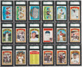 Baseball Cards:Sets, 1972 O-Pee-Chee Baseball SGC-Graded Near Set (521/525). ...
