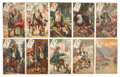 "Non-Sport Cards:Sets, Circa 1910 H767 Piedmont ""Life of Rip Van Winkle"" Complete Set(10). ..."