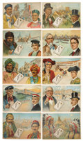 "Non-Sport Cards:Sets, Circa 1910 H-UNC Piedmont ""Countries of the World"" Complete Set(10). ..."