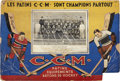 Hockey Collectibles:Others, 1933-34 Montreal Canadiens C.C.M. Advertisement Broadside....