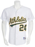 Baseball Collectibles:Uniforms, Early 1990's Rickey Henderson Game Worn Jersey....