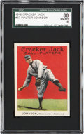 Baseball Cards:Singles (Pre-1930), 1915 Cracker Jack Walter Johnson #57 SGC 88 NM/MT 8....