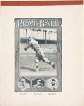 "Baseball Collectibles:Others, Circa 1918 ""Play Ball"" Notebook with Babe Ruth Cover...."