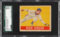 Baseball Cards:Singles (1940-1949), 1948-49 Leaf Dick Sisler #143 SGC 86 NM+ 7.5 - Extremely RareShortprint Example!...