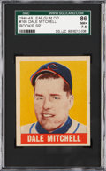 Baseball Cards:Singles (1940-1949), 1948-49 Leaf Dale Mitchell #165 SGC 86 NM+ 7.5 - Pop 1-of-1, WithOnly One Example Graded Higher!...