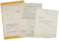 Movie/TV Memorabilia:Documents, Clark Gable Divorce Papers from Wife Josephine Dillon....