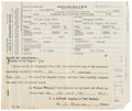 Movie/TV Memorabilia:Documents, Clark Gable's Marriage Certificate to his First Wife, Josephine Dillon. ...