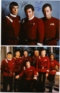 Movie/TV Memorabilia:Autographs and Signed Items, Star Trek Cast-Signed Photos.... (Total: 2 )