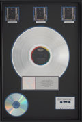 Music Memorabilia:Awards, The Beatles Hey Jude RIAA Multi-Platinum Album Award....