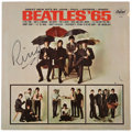 Music Memorabilia:Autographs and Signed Items, The Beatles - Ringo Starr Autographed Beatles '65 LP(Capitol ST-2228, 1965)....