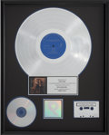 Music Memorabilia:Awards, Vaughan Brothers Family Style RIAA Platinum Sales Award....
