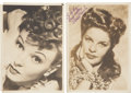 Movie/TV Memorabilia:Autographs and Signed Items, Anna Lee and Martha Ray Autographed Photos.... (Total: 2 Items)