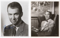 Movie/TV Memorabilia:Autographs and Signed Items, Gary Cooper and James Stewart Signed Photos.... (Total: 2 Items)