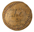 Autographs:Baseballs, 1928 New York Yankees & Philadelphia Athletics Signed Baseball with Ruth, Gehrig, Cobb....