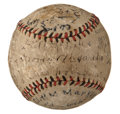 Autographs:Baseballs, 1922 Cincinnati Reds & Chicago Cubs Signed Baseball with Alexander, Rixey....