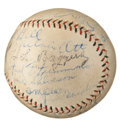 Autographs:Baseballs, 1932 New York Giants Team Signed Baseball....