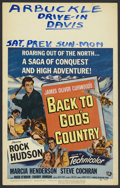 """Movie Posters:Action, Back to God's Country Lot (Universal International, 1953). Window Cards (3) (14"""" X 22""""). Action.. ... (Total: 3 Items)"""