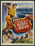 """Movie Posters:Adventure, The Bandit of Sherwood Forest Lot (Columbia, 1946). Belgian (14.5""""X 19.25"""") and Window Card (14"""" X 22""""). Adventure.. ... (Total: 2Items)"""
