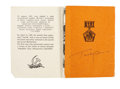 Autographs:Celebrities, Yuri Gagarin Signed 1961 Booklet....