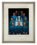 Autographs:Celebrities, NASA Astronaut Group Two: Large Color Photo on Mat Signed by All,Directly from the Personal Collection of Astronaut Ed White ...(Total: 2 Items)