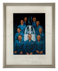 NASA Astronaut Group Two: Large Color Photo on Mat Signed by All, Directly from the Personal Collection of Astronaut Ed...