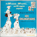 "Movie Posters:Animated, 101 Dalmatians (Buena Vista, R-1969). Six Sheet (81"" X 81"").Animated.. ..."