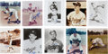 Baseball Collectibles:Photos, Dodgers Signed Photographs Lot of 24....