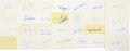 Baseball Collectibles:Others, New York Mets Signed Index Card Lot of 28....