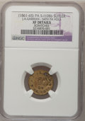 Civil War Tokens, S-110Bb J.A. Garman 54th PA Vols Civil War SutlerToken--Scratches--NGC. XF Details....