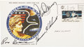 Autographs:Celebrities, Apollo 17 Crew-Signed Official Launch Cover Originally from thePersonal Collection of Mission Command Module Pilot Ron Evans....