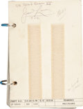 Transportation:Space Exploration, Gemini 12 Flown Procedures Book Directly from the PersonalCollection of Mission Commander James Lovell, Signed an...