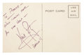 "Autographs:Celebrities, Neil Armstrong Autograph Note Signed with Added ""Apollo11""...."