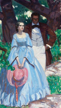 Mainstream Illustration, HORACE GILMORE (American, d. 1999). Southern Couple. Oil oncanvas. 32 x 18 in.. Not signed. ...