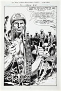 Original Comic Art:Splash Pages, Joe Kubert DC Special Blue Ribbon Digest #18 Sgt. RockSplash Page Original Art (DC, 1982)....