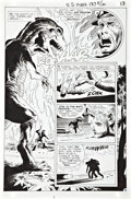 "Original Comic Art:Splash Pages, Joe Kubert Star Spangled War Stories 137 ""Fight To the Last""Splash Page 13 Original Art (DC, 1968)...."