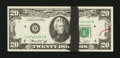 Error Notes:Ink Smears, Fr. 2071-D $20 1974 Federal Reserve Note. Very Choice CrispUncirculated.. ...