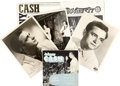 Music Memorabilia:Recordings, Johnny Cash Autographed EP, 45 Records, Promo Kit (1955-60)....(Total: 15 )