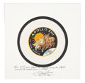 Transportation:Space Exploration, Apollo 13 Flown Beta Cloth Mission Insignia Patch Directly from the Personal Collection of Mission Commander James Lovell, Sig...