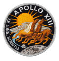 Transportation:Space Exploration, Apollo 13 Flown Embroidered Mission Crew Patch Directly from the Personal Collection of Mission Commander James Lovell, Signed...