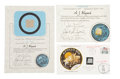 Transportation:Space Exploration, Apollo 13: Collection of Three Flown Artifacts, One Crew-Signed....(Total: 3 Items)