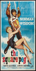 "Movie Posters:Comedy, The Square Peg (Rank, 1959). British Three Sheet (41"" X 80""). Comedy.. ..."
